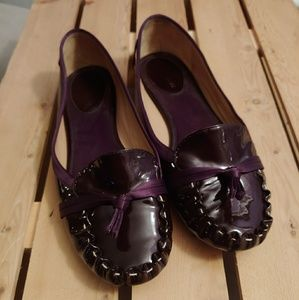 Kate Spade Purple Patent Leather Loafer Shoes